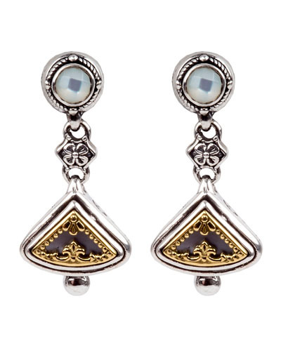 Mother-of-Pearl Triangular Drop Earrings