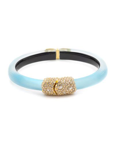 Crystal Encrusted Skinny Hinge Bracelet, Turquoise