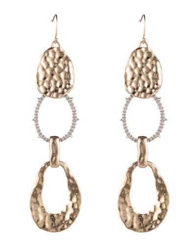 Hammered Link-Drop Earrings