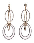 Alexis Bittar Hammered Orbiting-Link Earrings