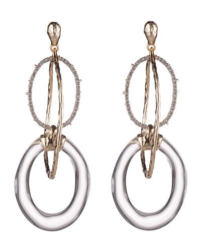 Hammered Orbiting-Link Earrings