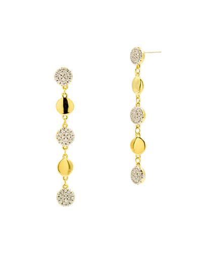 Radiance Linear Drop Earrings, Yellow Gold