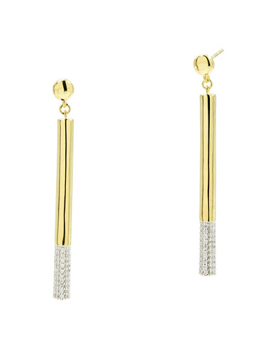 Radiance Matchstick Earrings, Yellow Gold