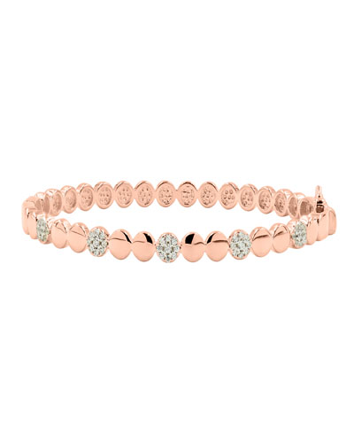 Radiance Hinge Bangle, Rose Gold