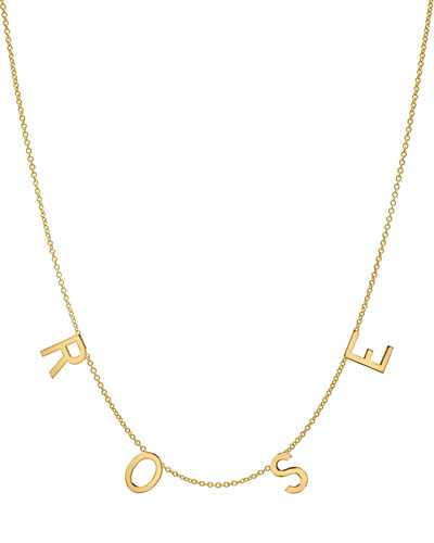 Personalized 14k Gold 4-Initial Necklace