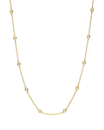 14k Gold Diamond By-the-Yard Necklace