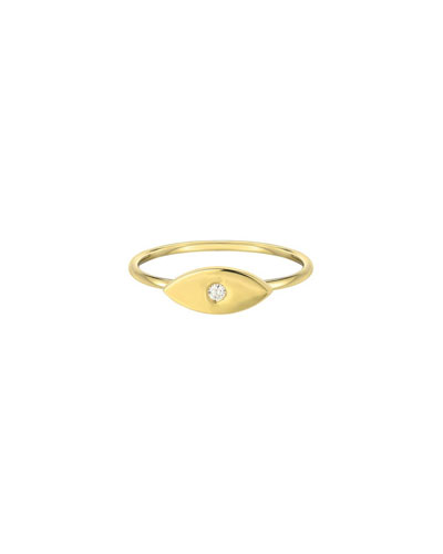 MINI Size 8 14k gold solid MINI light blue Eye ring
