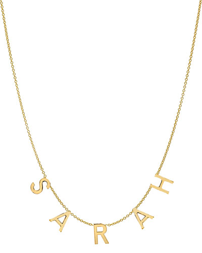 Personalized 14k Gold 5-Initial Necklace
