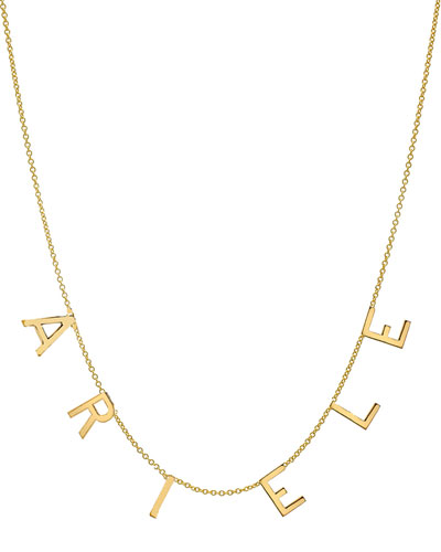 Personalized 14k Gold 6-Initial Necklace