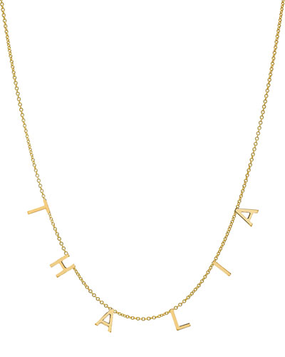 Personalized 14k Gold 6 Mini Initial Necklace