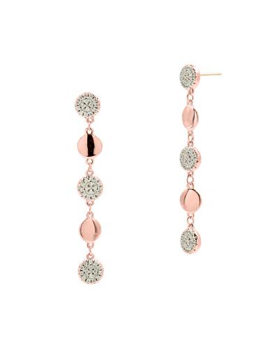 Radiance Linear Drop Earrings, Rose Gold