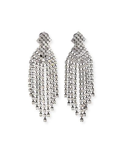 Crystal Waterfall Earrings, 3.5