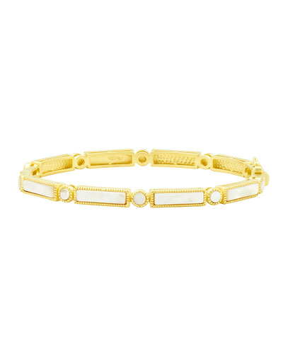 Color Theory Baguette Bangle, White