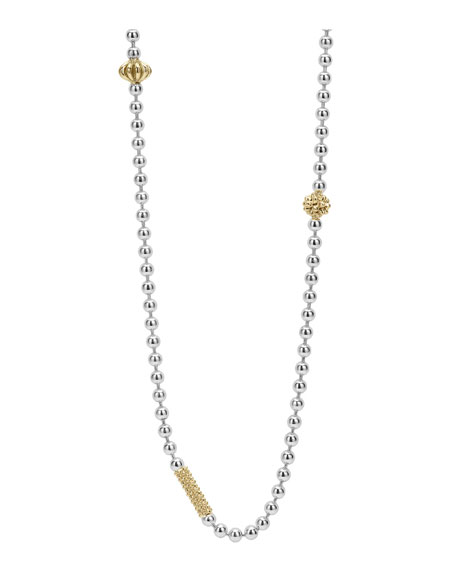 Lagos Caviar Icon 18k Gold-Station Necklace