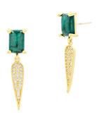 Freida Rothman Harmony Pave Dagger Drop Earrings