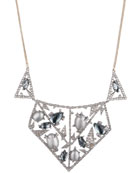 Alexis Bittar Crystal Encrusted Lace Bib Necklace