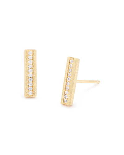 Nia Shimmer Bar Stud Earrings