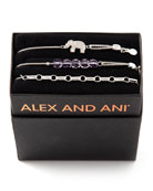 Alex and Ani Orchid Elephant Bracelets, Set of