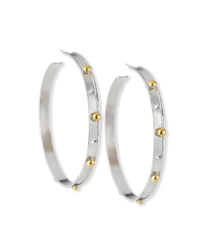 a9ae301d3 Quick Look. Devon Leigh · Rhodium & Gold Hoop Earrings. Available in Silver