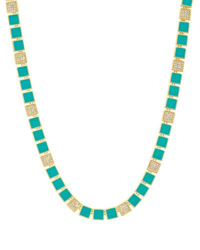 Harmony Turquoise Enamel Collar Necklace