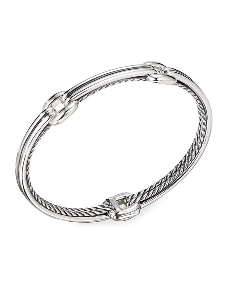 David Yurman Thoroughbred Double-Link Bracelet, Size S-L