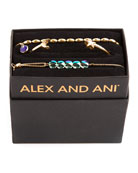 Alex and Ani Galaxy Moon & Star Bracelets,