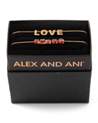 Alex and Ani Love & Crystal Bracelets, Set