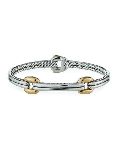 Thoroughbred Double-Link Bracelet w/ 18k Gold, Size S-L