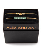 Alex and Ani Love & Luck Bracelets, Set
