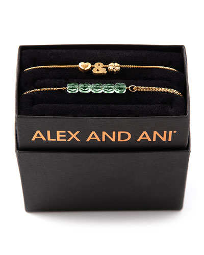 Love & Luck Bracelets, Set of 2, Gold