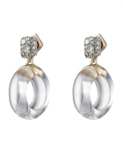 Domed Circle Drop Earrings