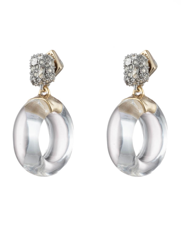 Alexis Bittar Domed Circle Drop Earrings
