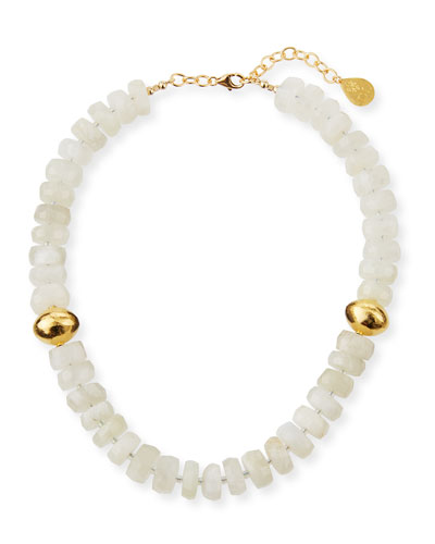 Moonstone & Gold Accent Necklace