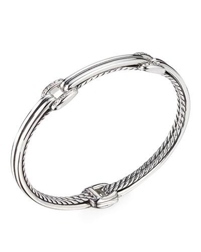 Thoroughbred Double-Link Diamond Bracelet, Size S-L