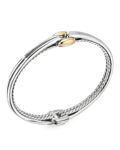 Thoroughbred Center-Link Bracelet w/ 18k Gold, Size S-L