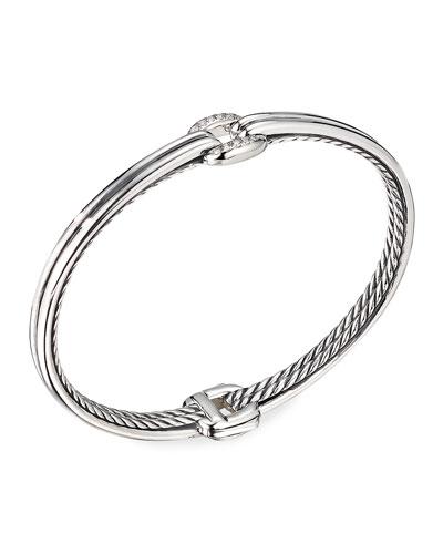 Thoroughbred Center-Link Diamond Bracelet, Size S-L