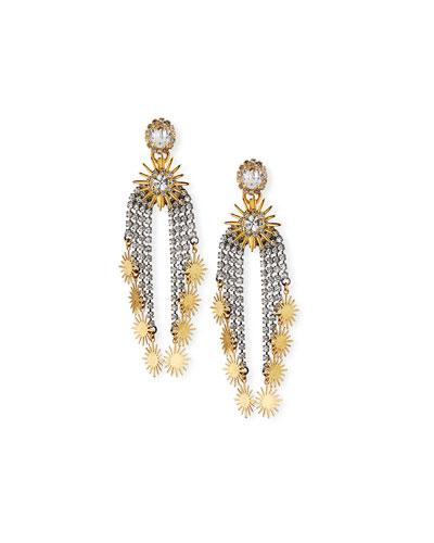 Ellen Crystal & Starburst Earrings