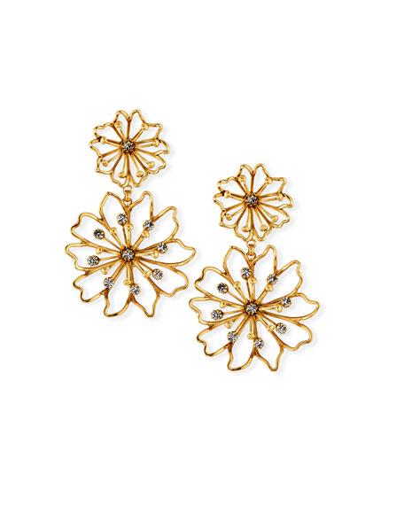 Elizabeth Cole Annabelle Flower Earrings