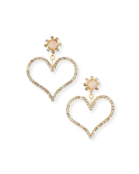 Elizabeth Cole Penelope Heart-Drop Earrings