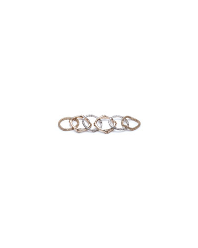 Bamboo Stack Rings, Set of 6, Size 8