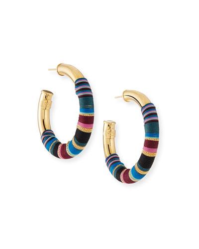 Porto Wrapped Hoop Earrings