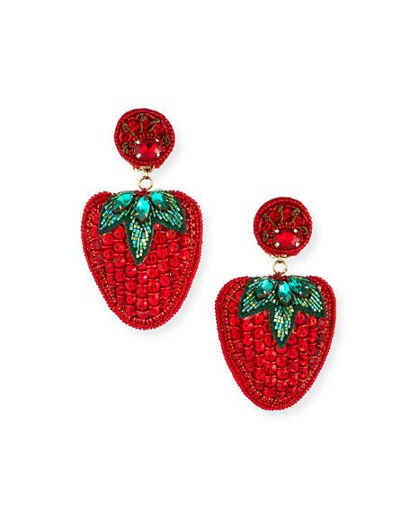 Ranjana Khan Les Fraises Clip-On Earrings