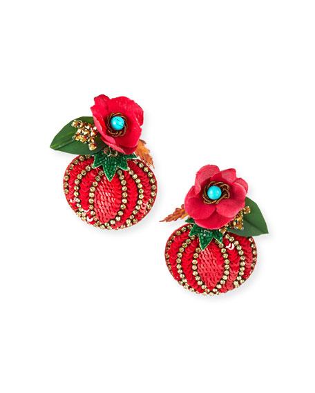Ranjana Khan Tomato Drop Earrings