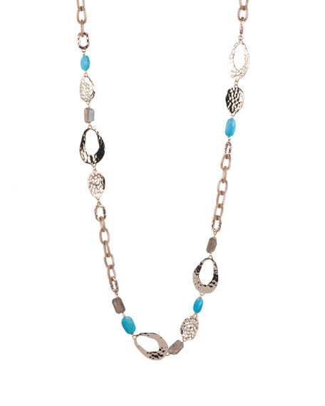 Alexis Bittar Mesh Chain & Multi-Stone Necklace