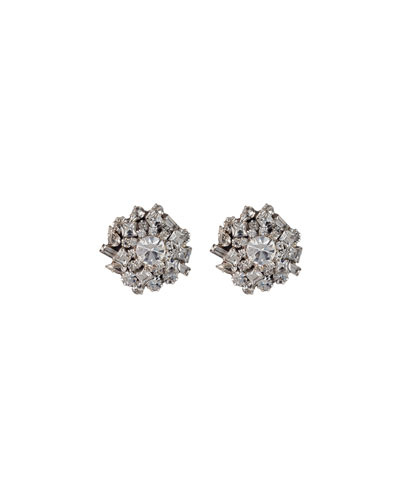 Nessa Crystal Cluster Earrings