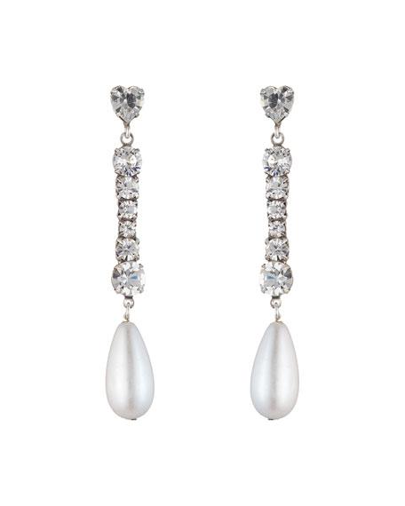 Dannijo Rita Crystal & Pearly Drop Earrings