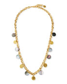 NEST Jewelry Long Coin & Mother-of-Pearl Necklace, 38