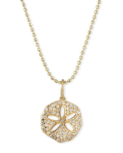 14k Diamond Pave Sand Dollar Necklace