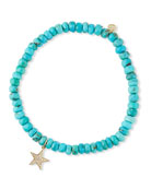 Sydney Evan 14k Diamond Star & Turquoise Bracelet