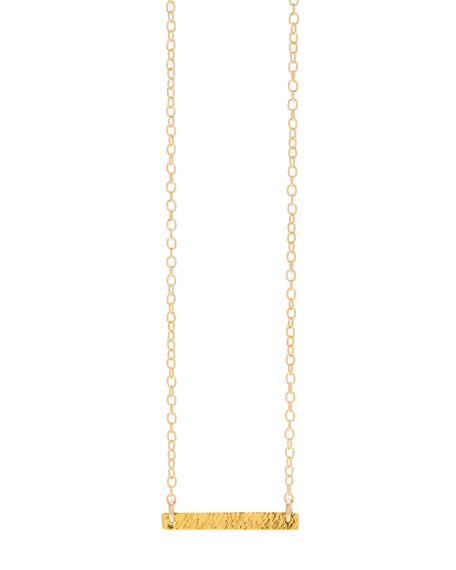 gorjana Knox Bar Pendant Necklace